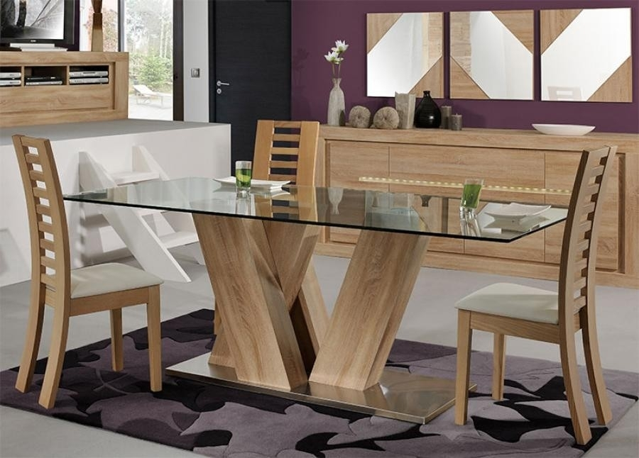 Modern Wooden Dining Table Designs Best Of Wood And Glass Dining Regarding Wooden Glass Dining Tables (Image 18 of 25)