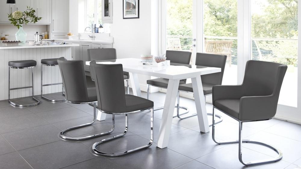 Modern Zen 6 Seater White Gloss And Oak Dining Table | Uk With Regard To White Gloss Dining Tables Sets (Image 15 of 25)