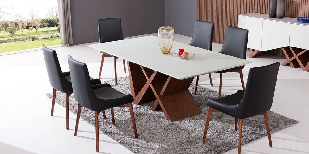 Moderna Dining Table & Dining Chairs From Hunter Furniture | Decor With Regard To Lassen 7 Piece Extension Rectangle Dining Sets (View 9 of 25)