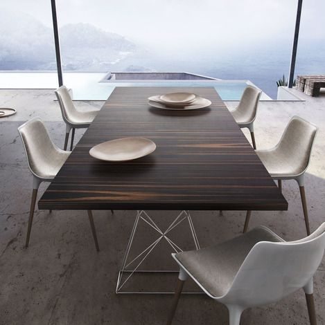 Modloft Curzon 87 Inch Dining Table | Stainless Steel, Steel And Woods Regarding 87 Inch Dining Tables (Image 10 of 25)