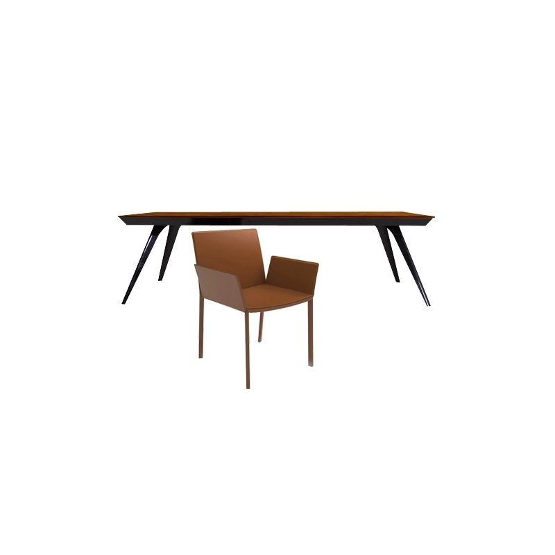 Modloft Milton Dining Table + Sanctuary Dining Chair Intended For Milton Dining Tables (Image 21 of 25)