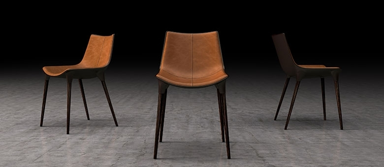 Modloft Modern Furniture, Dining Chairs Within Brown Leather Dining Chairs (Image 20 of 25)