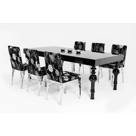 Modrest Nayri – Transitional Black High Gloss Dining Table – Jubilee With Regard To Black High Gloss Dining Tables (Image 21 of 25)