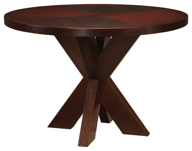 Modus Hudson Round X Base Counter Table – Transitional – Dining Throughout Hudson Round Dining Tables (View 8 of 25)