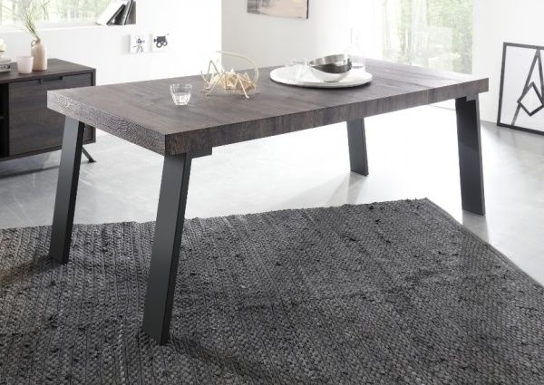 Monaco, Modern Wenge Finish Dining Table In Retro Style | Trendy Intended For Monaco Dining Tables (Image 24 of 25)
