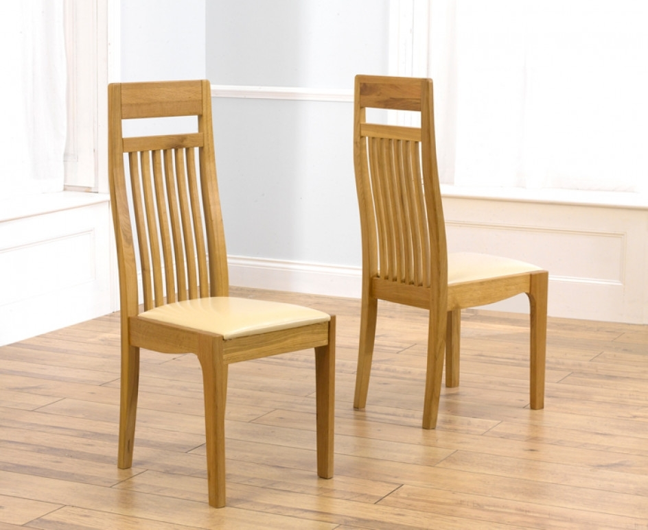 Monaco Solid Oak Cream Dining Chairs | The Great Furniture Trading Regarding Monaco Dining Sets (Image 18 of 25)