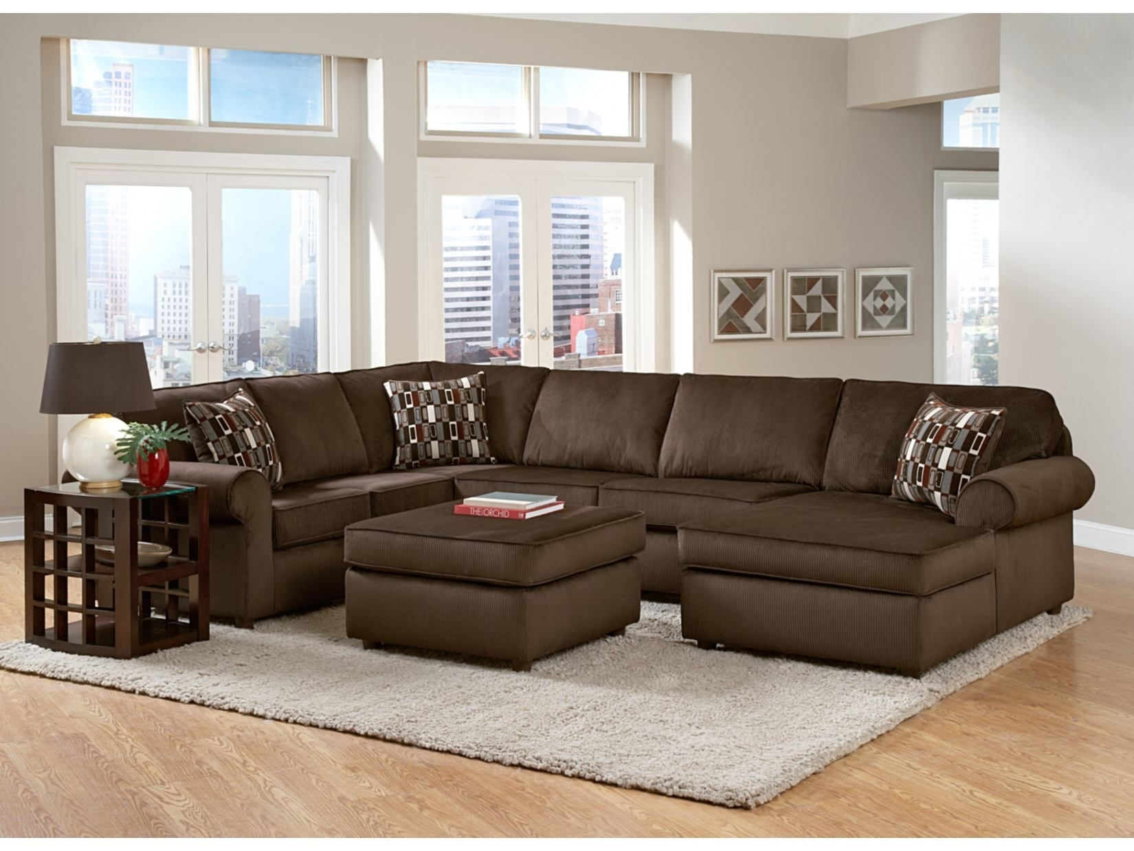 Monarch Chocolate 3 Pc Sectional – Value City Furniture | Value City In Karen 3 Piece Sectionals (View 8 of 25)