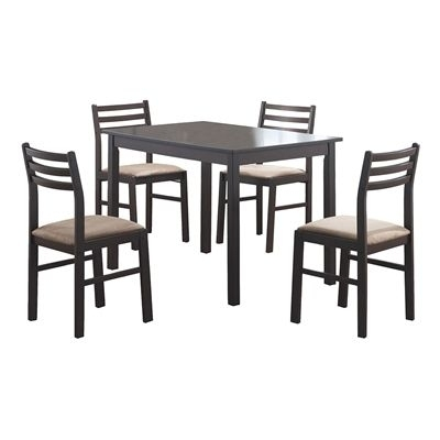 Monarch Specialties Dining Set I 1111 5 Piece In 2018 | Products Throughout Kirsten 5 Piece Dining Sets (Image 21 of 25)