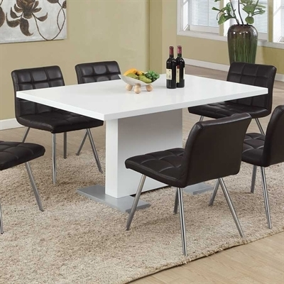 Monarch Specialties I 1090 High Gloss Dining Table | Lowe's Canada Within Gloss Dining Tables (Image 22 of 25)
