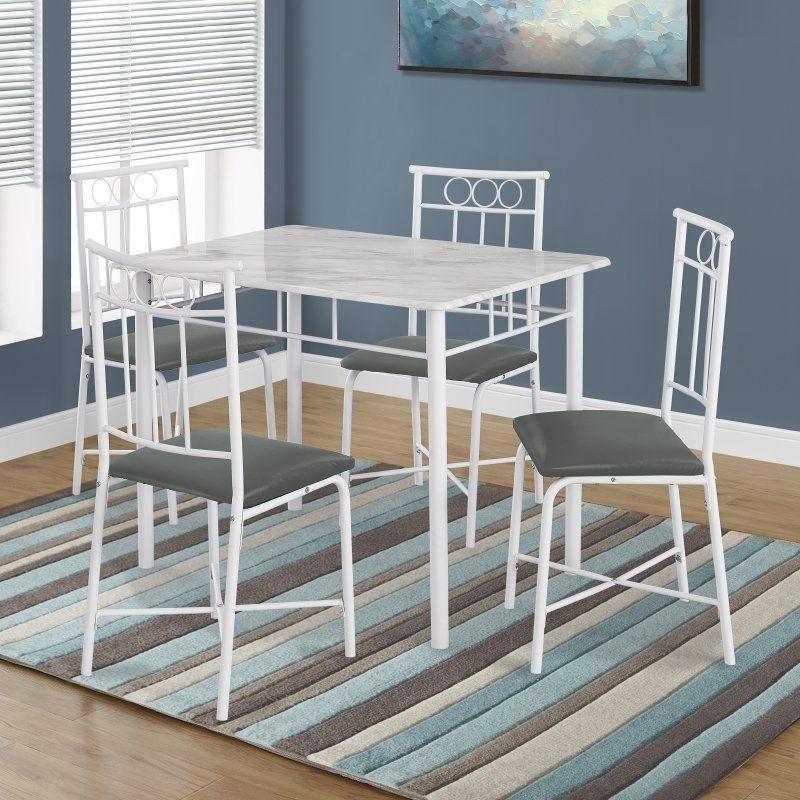 Monarch Specialties Kirsten 5 Piece Dining Table Set – I 1030 Inside Kirsten 5 Piece Dining Sets (Image 22 of 25)