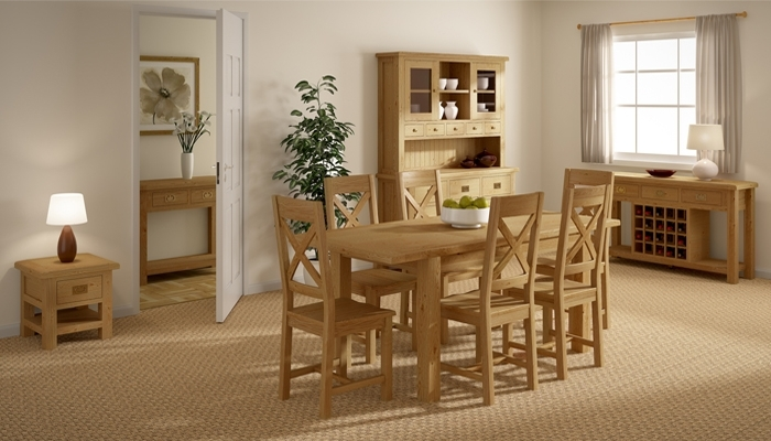 Mondri Rustic Oak Dining Furniture | Rustic Oak Dining Furniture Regarding Rustic Oak Dining Tables (Image 10 of 25)
