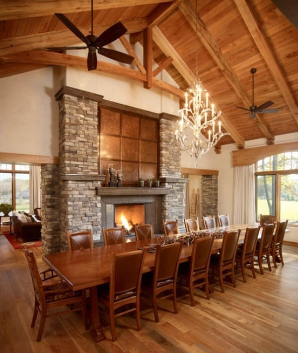 Montain Dining Room | Fireplaces & Firepits – We Love Fire Intended For Long Dining Tables (Image 20 of 25)