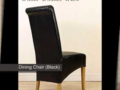 Montana Leather Dining Chair Black) – Youtube Within High Back Leather Dining Chairs (Image 20 of 25)