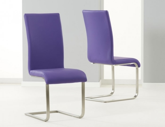 Monterey Purple Faux Leather Dining Chairs In Purple Faux Leather Dining Chairs (Image 12 of 25)