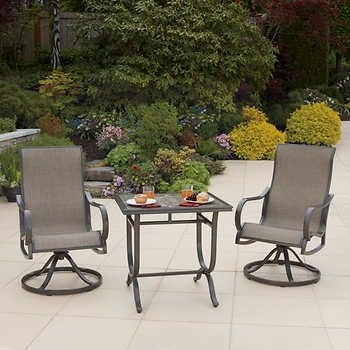 Montgomery 3 Piece Cafe Patio Set Costco $ (View 23 of 25)