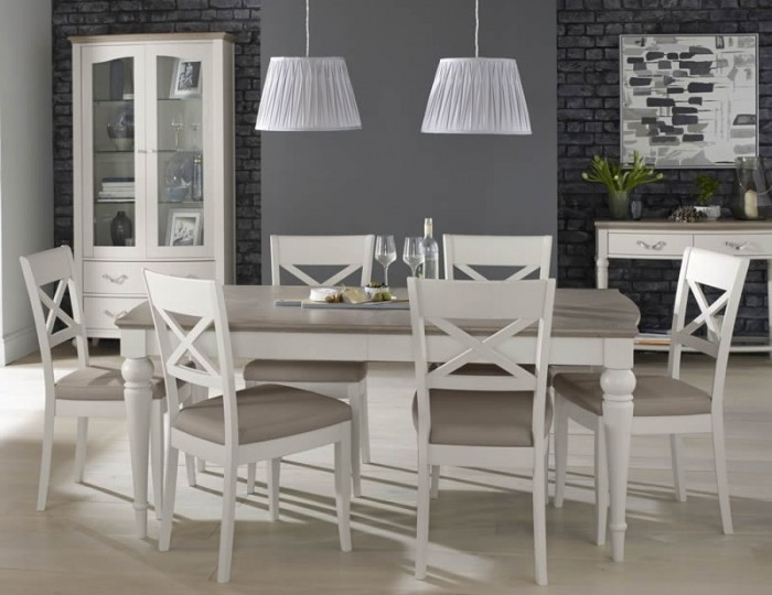 Montreux Grey Two Tone 180 Cm Extending Dining Set For Walden Extension Dining Tables (Image 12 of 25)