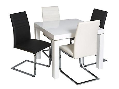 Morano Square Dining Table & 4 Alcora Chairs | I Want For My Home For Alcora Dining Chairs (View 10 of 25)