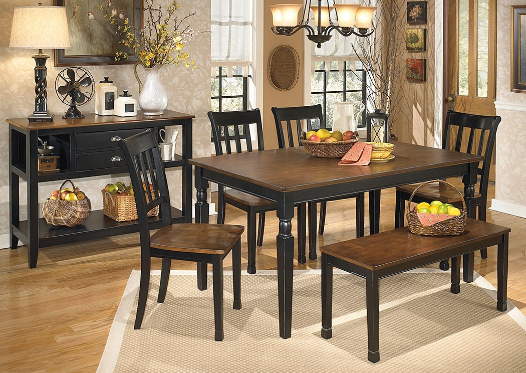 Moran's Furniture Store – Jamestown, Ny Owingsville Rectangular With Craftsman 7 Piece Rectangle Extension Dining Sets With Side Chairs (Image 20 of 25)
