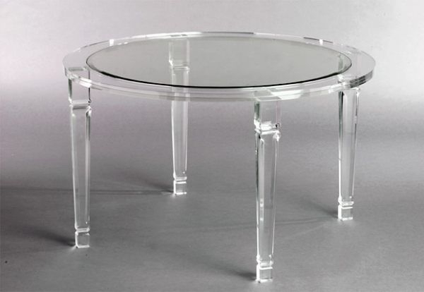 More Acrylic Furniture Finds For A Sleek Style   Furniture Within Acrylic Round Dining Tables (View 2 of 25)