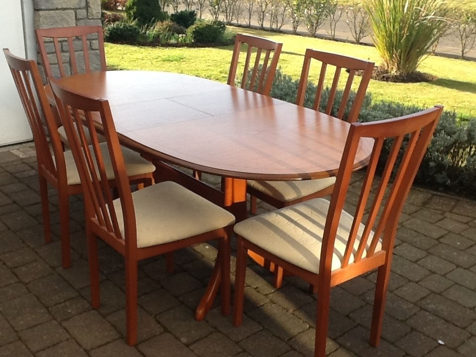 Morris Of Glasgow Dining Table & 6 Chairs | In Carnoustie, Angus Inside Glasgow Dining Sets (Image 19 of 25)