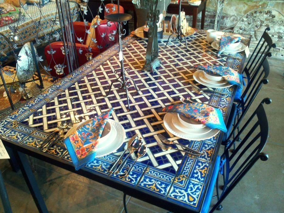 Mosaic Dining Table – Travelward Pertaining To Mosaic Dining Tables For Sale (View 14 of 25)