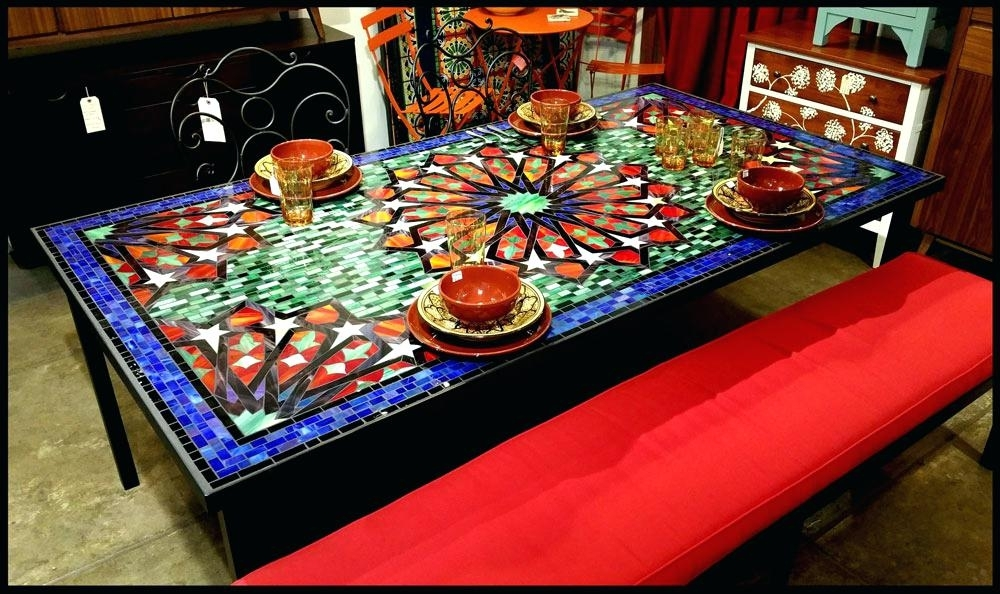 Mosaic Dining Table – Travelward Regarding Mosaic Dining Tables For Sale (View 8 of 25)