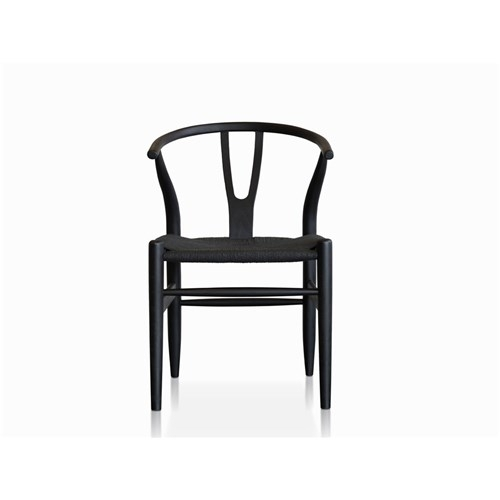 Mosman Replica Wishbone Black Dining Chair | James Lane – Within Black Dining Chairs (View 9 of 25)