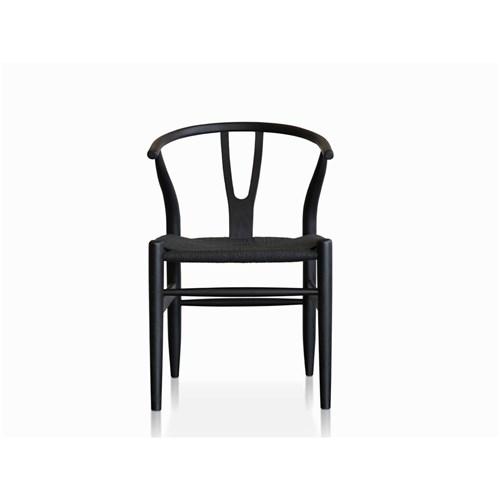 Mosman Replica Wishbone Black Dining Chair | James Lane – Within Black Dining Chairs (Image 15 of 25)