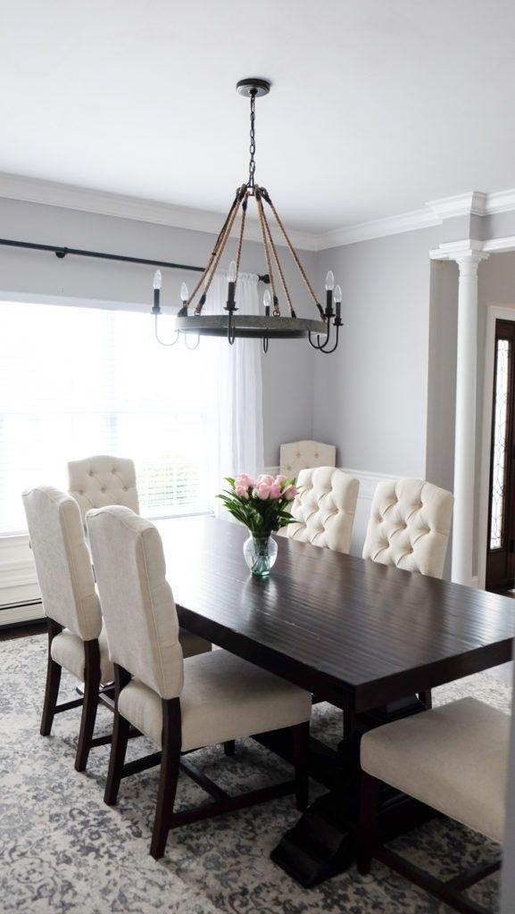 My Dining Room | { Mrscasual – Blog } | Pinterest | Dining Room With Dark Wood Dining Tables And Chairs (View 6 of 25)