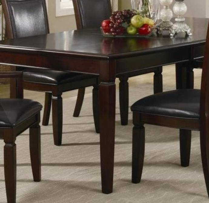 Myco Furniture Ellington Modern Dark Walnut Rectangular Dining Set W Within Carly Rectangle Dining Tables (View 17 of 25)