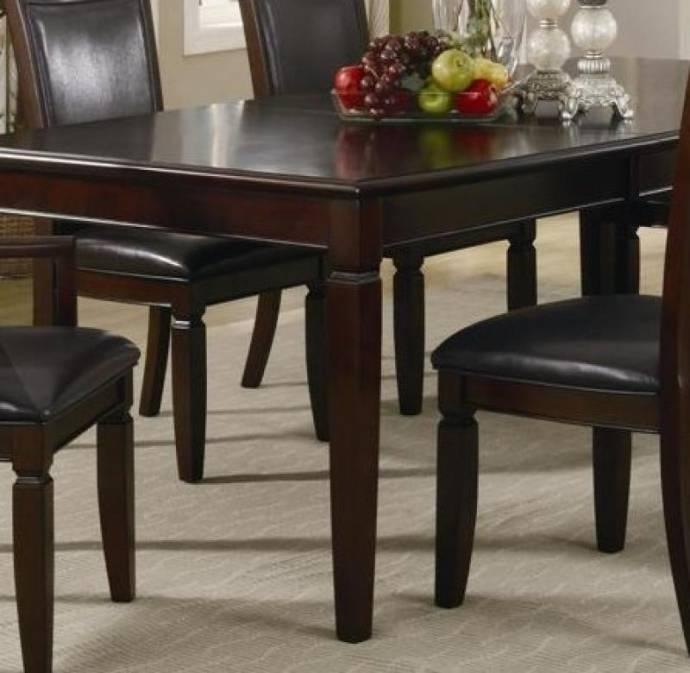 Myco Furniture Ellington Modern Dark Walnut Rectangular Dining Set W Within Carly Rectangle Dining Tables (Image 20 of 25)