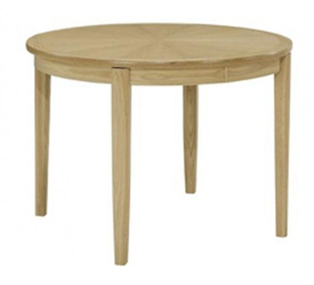Nathan Furniture Nathan 2905 Shades Oak Circular Dining Table On Regarding Circular Oak Dining Tables (Image 10 of 25)