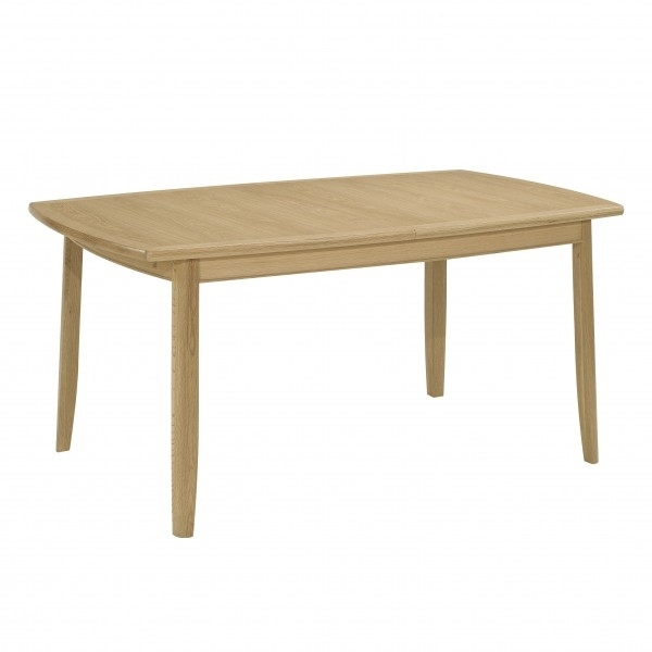 Nathan Oak Extending Rectangular Dining Table On Legs – Hi Sell Direct With Extending Rectangular Dining Tables (Image 18 of 25)