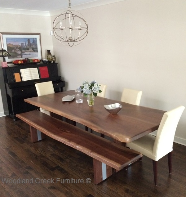Natural Edge Modern Dining Table, Live Edge, Solid Slab, Modern, Refined Throughout Modern Dining Tables (View 25 of 25)