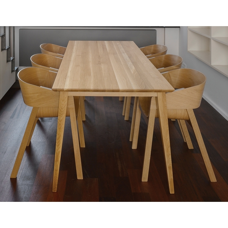 Natural Jutland Solid Oak Dining Table 220Cm X 100Cm | The Block Shop Throughout Oak Dining Tables (Image 16 of 25)