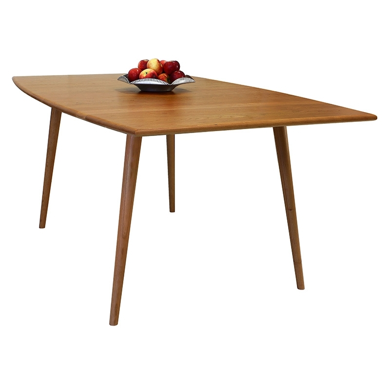 Natural Wood Boat Top Dining Table | Extension Or Solid Top | Mid Pertaining To Craftsman Rectangle Extension Dining Tables (Image 21 of 25)