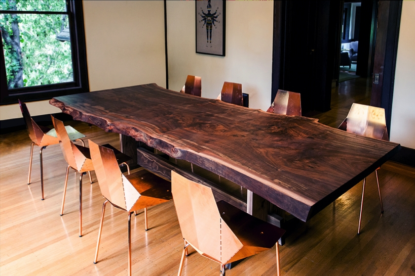 Natural Wood Live Edge Table Regarding Edmonton Dining Tables (View 14 of 25)