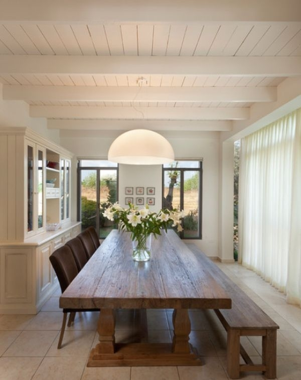 Natural Wood Table | Home Stuff | Pinterest | Dining Room, Dining With Regard To Long Dining Tables (Image 22 of 25)