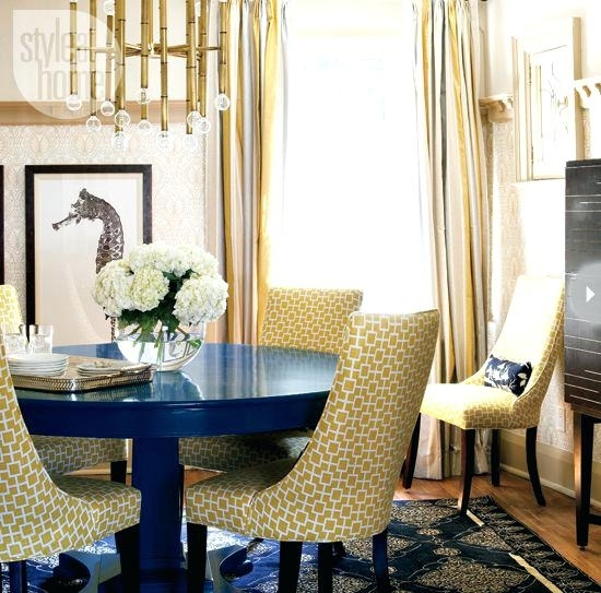 Navy Blue Round Dining Table – Pablosbarbers Throughout Blue Dining Tables (Image 19 of 25)