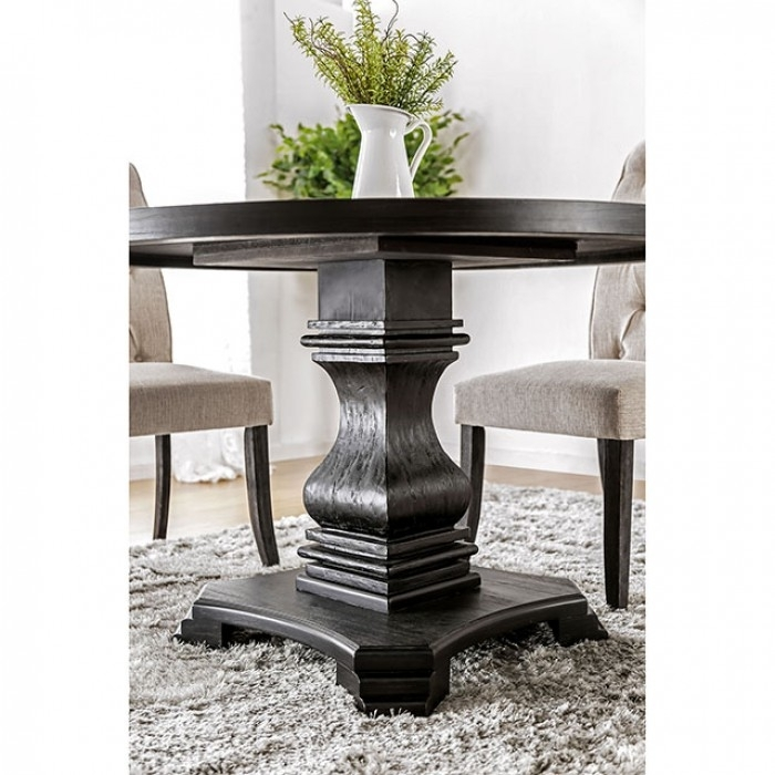 Nerissa Antique Black Round Dining Table – Shop For Affordable Home Regarding Dark Round Dining Tables (View 19 of 25)