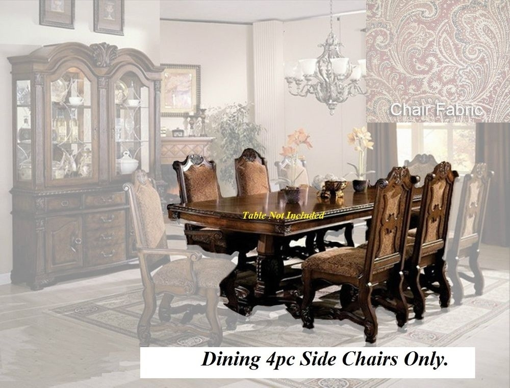 New! 4Pc Formal Dining Room Chairs Furniture Set Fabric Seat intended for Dining Room Chairs Only