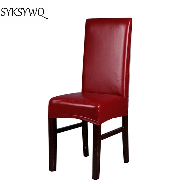 New Arrival Office Chair Cover Spandex Funda Silla Oficina Drop With Regard To Red Leather Dining Chairs (Image 14 of 25)
