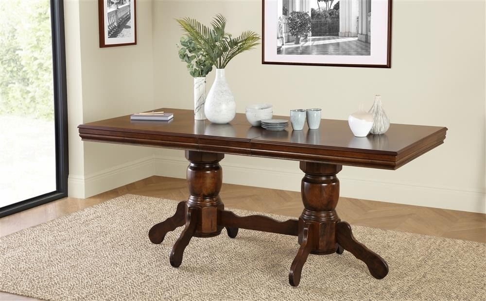 New Dark Wood Extending Dining Table — 150 – 180Cm | In Coventry With Dark Wood Extending Dining Tables (Image 18 of 25)