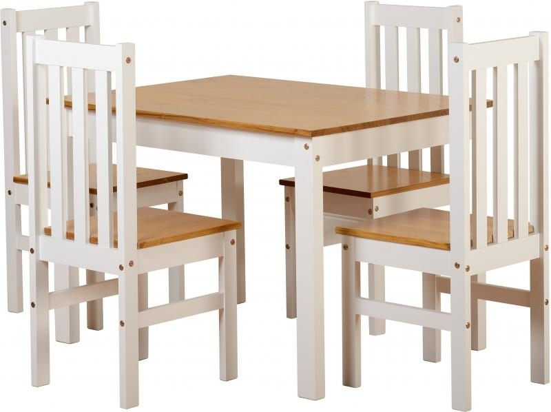 New Ludlow Dining Table + 4 Chairs Only 295€ | Global Discount For Dining Room Chairs Only (Photo 21 of 25)