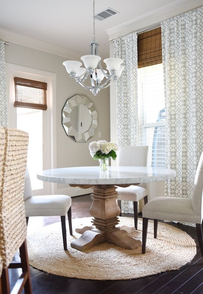 New Marble Dining Table | Dining | Pinterest | Dining, Dining Room With Regard To Laurent 7 Piece Rectangle Dining Sets With Wood Chairs (Photo 14 of 25)