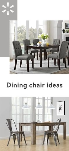 New Rustic Metal And Wood Dining Chairs | Kitchen Tables | Pinterest In Kirsten 6 Piece Dining Sets (View 9 of 25)