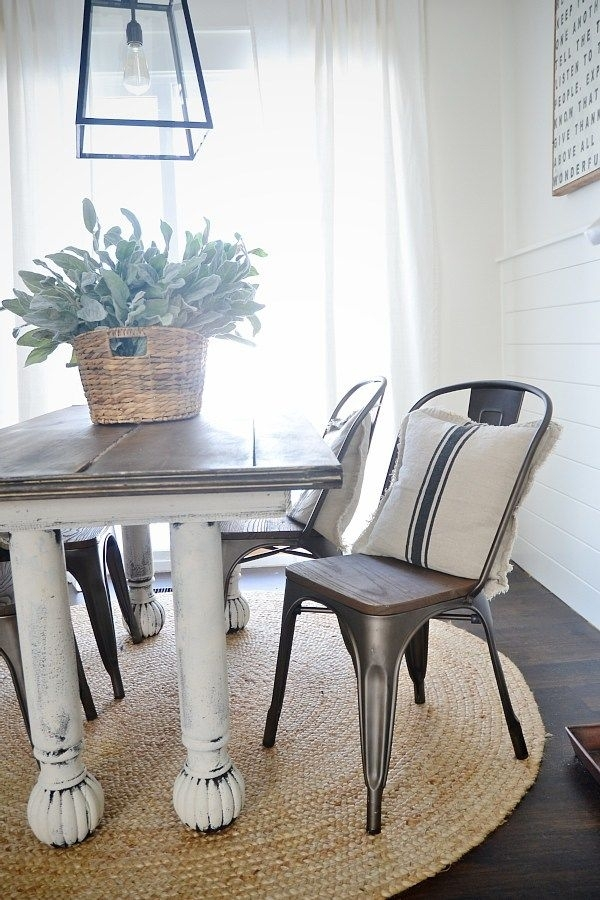 New Rustic Metal And Wood Dining Chairs | Kitchen Tables | Pinterest Throughout Kirsten 6 Piece Dining Sets (Image 23 of 25)