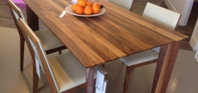 New! Solid Walnut Dining Table! ~ Made In Canada – Parc Modernparc In Walnut Dining Tables And Chairs (Photo 25 of 25)