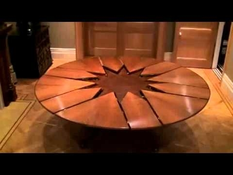 New Technology Table Expandable Round Dining Table – Youtube Within Extendable Round Dining Tables (Photo 12 of 25)