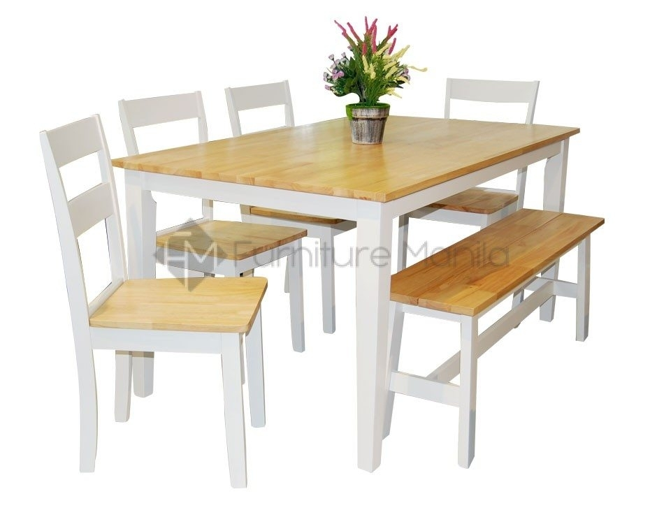 New York Dining Set With Bench | Home & Office Furniture Philippines Throughout New York Dining Tables (Image 14 of 25)